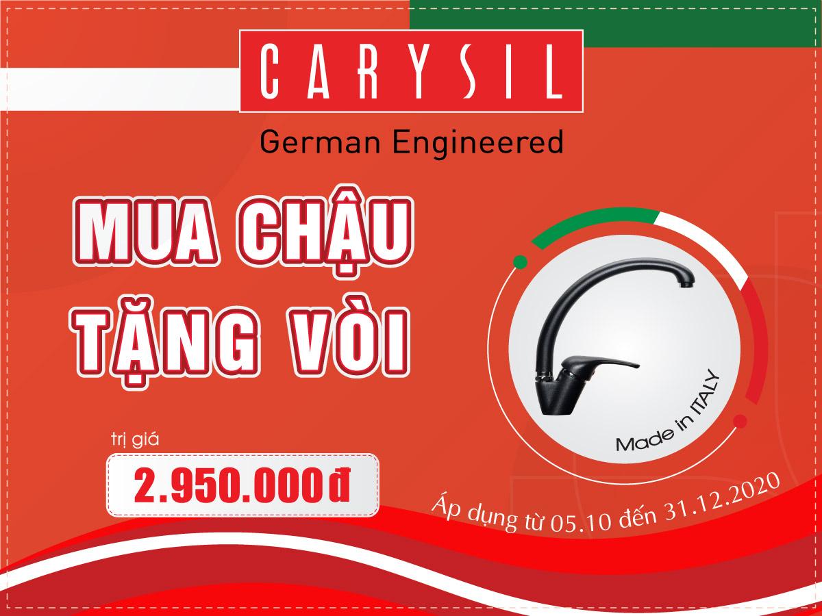 Khuyến Mãi Mua Chậu Tặng Vòi Carysil Tháng 10 Năm 2020